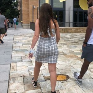 Cute plaid dress with back tie